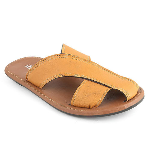 Men's Slippers (SK-011) - Mustard - test-store-for-chase-value
