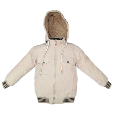 Boys Full Sleeves Jacket - Beige