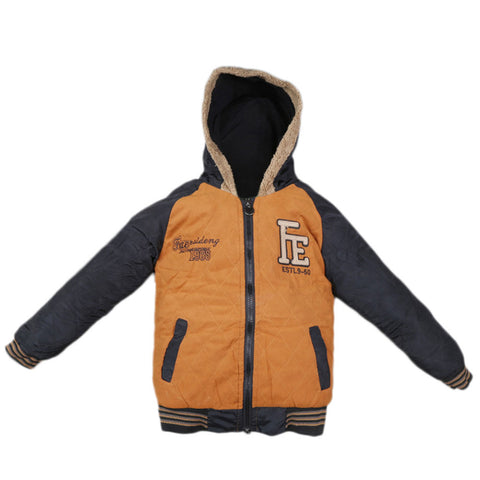Boys Full Sleeves Jacket - Camel