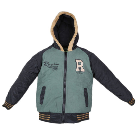 Boys Full Sleeves Jacket - Green