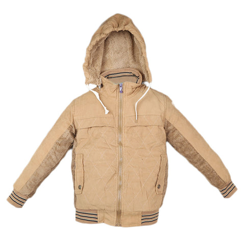 Boys Full Sleeves Jacket - Brown