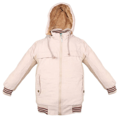 Boys Full Sleeves Jacket - Fawn
