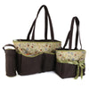 NewBorn Baby Bag 2 Pcs - Coffee Green