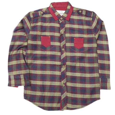 Boys Full Sleeves Casual Shirt - Multi
