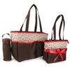 NewBorn Baby Bag 2 Pcs - Coffee Red