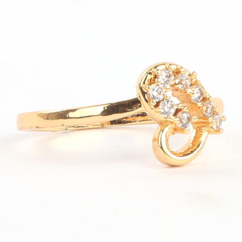 Girls Finger Ring - Golden