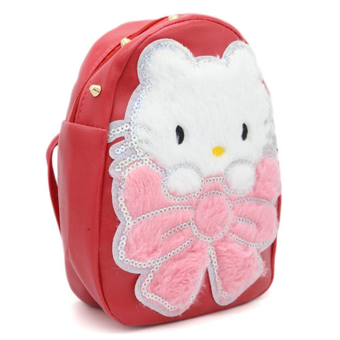 Girls backpack 7572C - Red