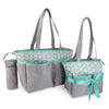 NewBorn Baby Bag 2 Pcs - Grey Cyan