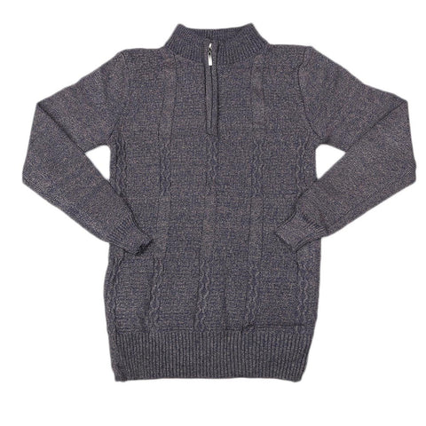 Boys Full Sleeves Sweater - Coffee