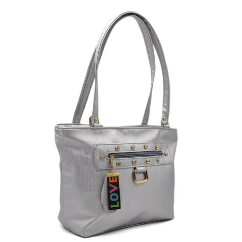 Women's Shoulder Bag 7585 - Silver
