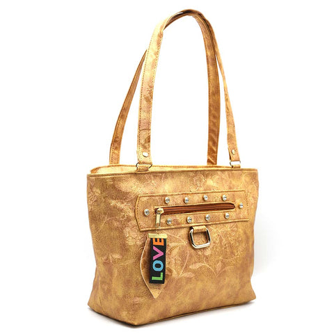 Women's Shoulder Bag 7585 - Golden