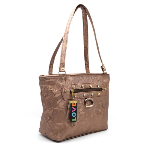 Women's Shoulder Bag 7585 - Copper