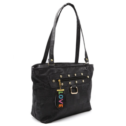Women's Shoulder Bag 7585 - Black