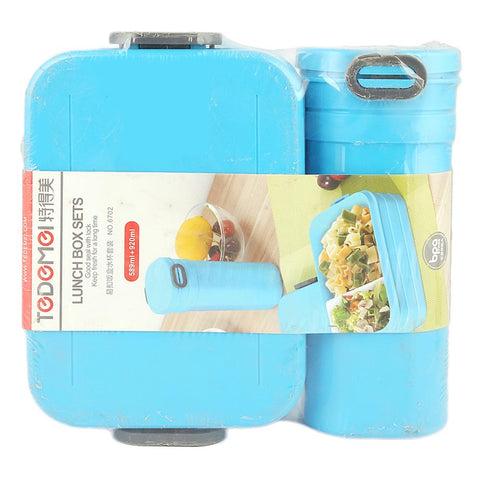 Homeo Lunch Box With Water Bottle (6702) - Blue