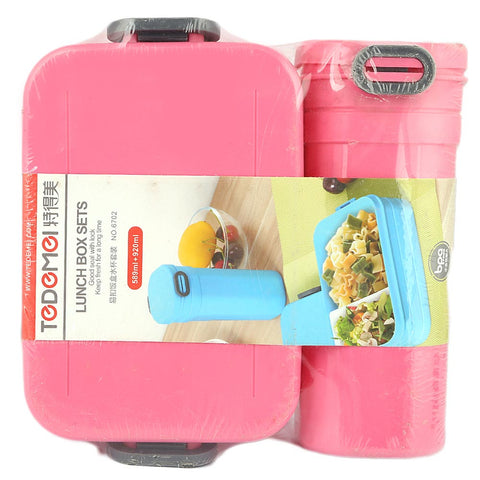 Homeo Lunch Box With Water Bottle (6702) - Pink