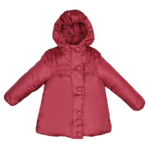 Girls Full Sleeves Jacket - Maroon