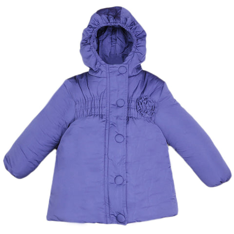 Girls Full Sleeves Jacket - Purple