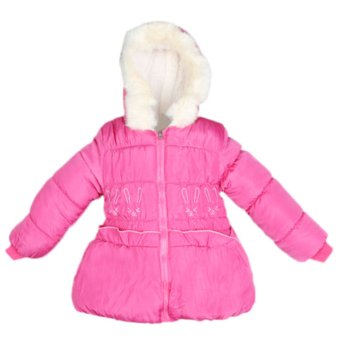 Girls Full Sleeves Jacket - Pink
