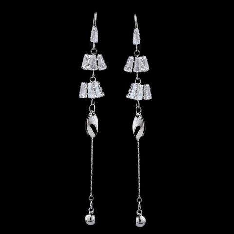 Women's Zircon Earring - Silver