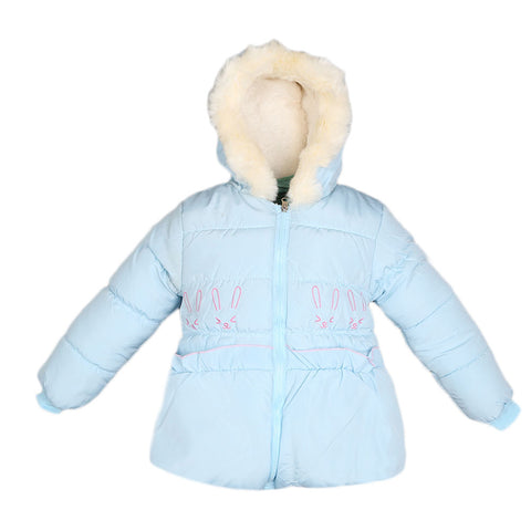 Girls Full Sleeves Jacket - Blue