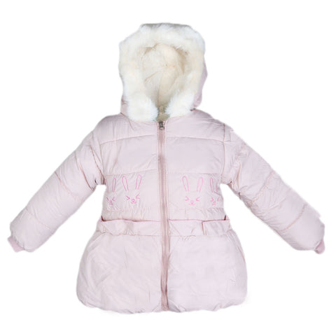 Girls Full Sleeves Jacket - Light Pink