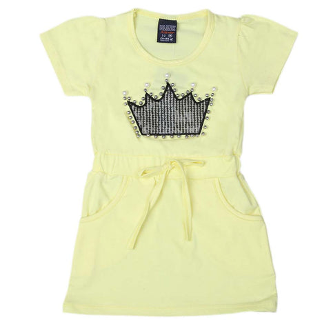 Girls H/S long T-shirt-yellow