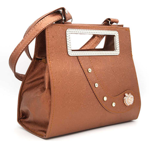 Women's Handbag (9671) - Copper