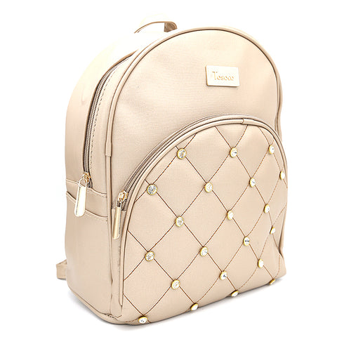 Women's Backpack 7575 - Beige