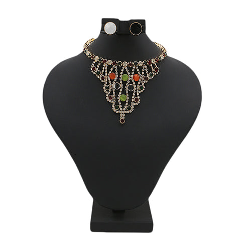 Women's Choker Necklace Set - Multi