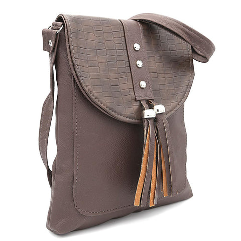 Women's Shoulder Bag ZH-46 - Coffee