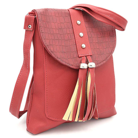 Women's Shoulder Bag ZH-46 - Maroon