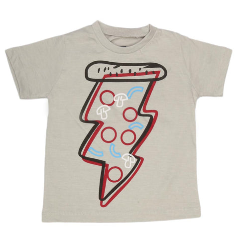 Boys Print T-Shirt - Light Grey