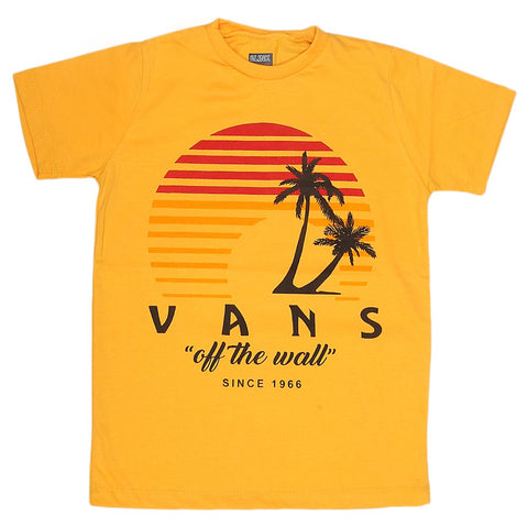 Boys Print T-Shirt - Yellow