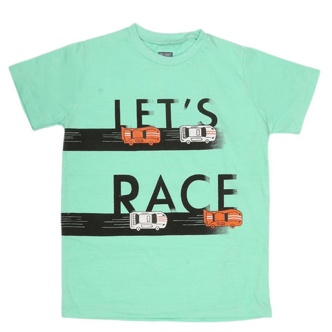 Boys Print T-Shirt - Sea Green