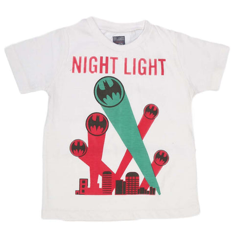 Boys Print T-Shirt - White
