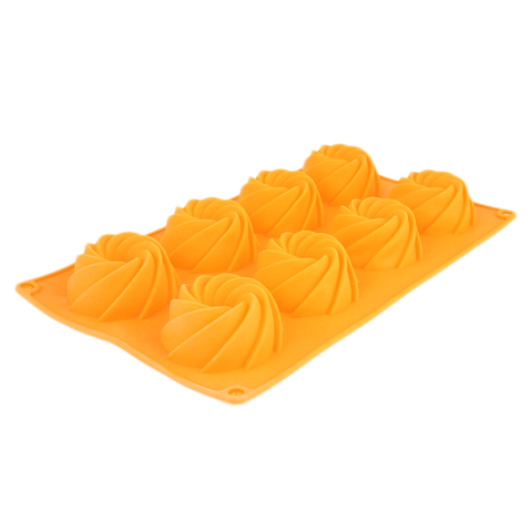 Silicone Mold 8 Pcs Tray - Orange - test-store-for-chase-value