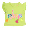 Newborn Girl Half Sleeves T-Shirt - Green
