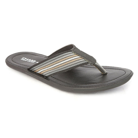 Men's Casual Slippers - Black