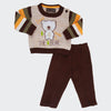 Newborn Boys Sweater 2 Pcs Suit - Beige
