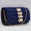 Women's Fancy Clutch 6790 - Navy Blue