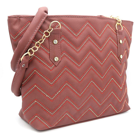 Women's Shoulder Bag ZH-51 - Maroon