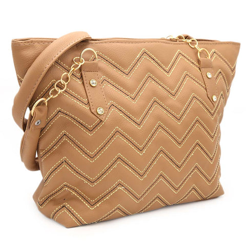 Women's Shoulder Bag ZH-51 - Light Brown
