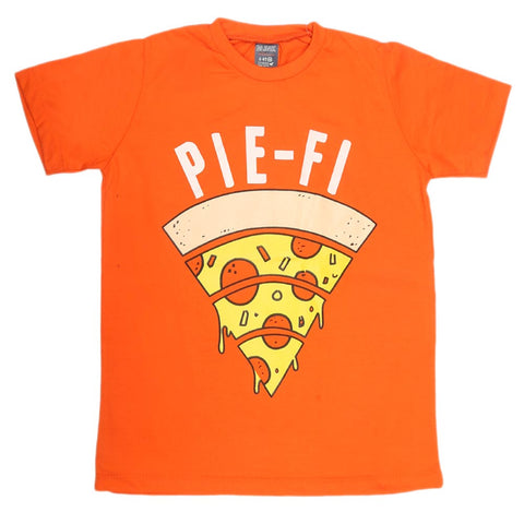 Boys Print T-Shirt - Orange