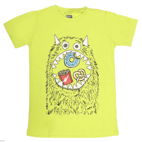 Boys Print T-Shirt - Parrot Green