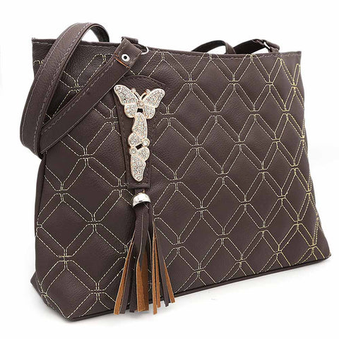 Women's Shoulder Bag ZH-48 - Coffee