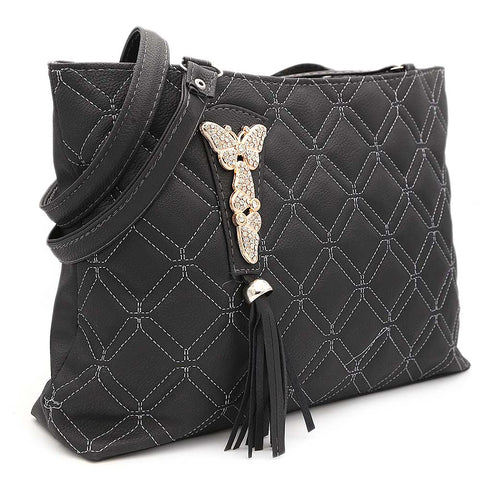 Women's Shoulder Bag ZH-48 - Black