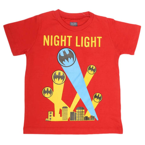 Boys Print T-Shirt - Red