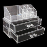 Acrylic Cosmetic Makeup Organizer Storage Box - White