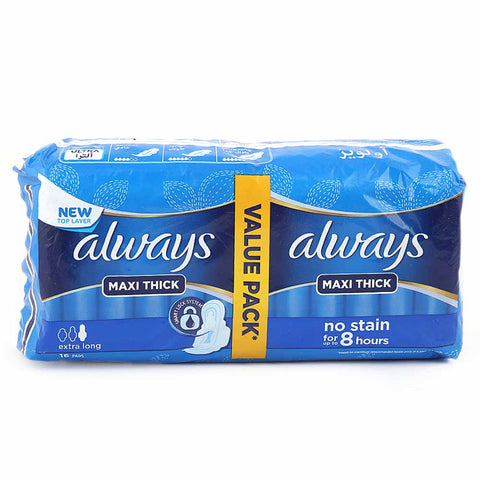Always Maxi Thick Extra Long Value Pack