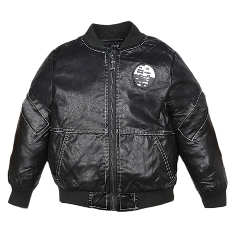 Boys Full Sleeves Jacket - Black